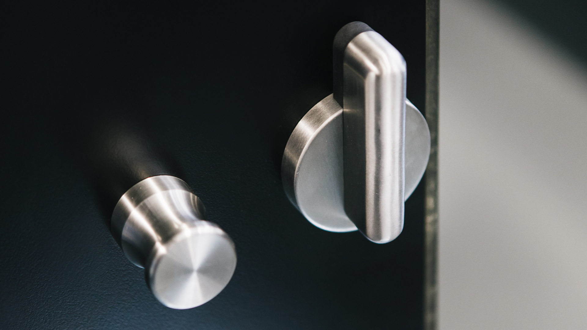 Stainless steel partition hardware